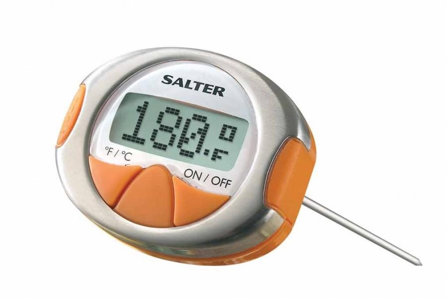 Thermom tre num rique viande gourmet salter salter ustensiles de cuisine cuisine innovmania - Thermometre cuisine compatible induction ...