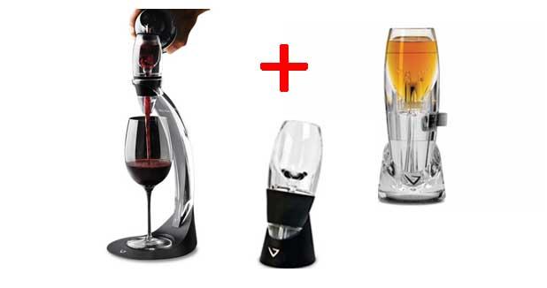 pack 3 a rateurs de vin vinturi achat aerator d canteur. Black Bedroom Furniture Sets. Home Design Ideas