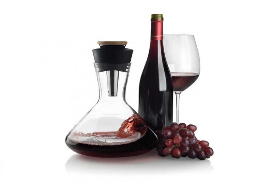carafe avec a rateur de vin rouge aerato accessoire vin innovmania. Black Bedroom Furniture Sets. Home Design Ideas