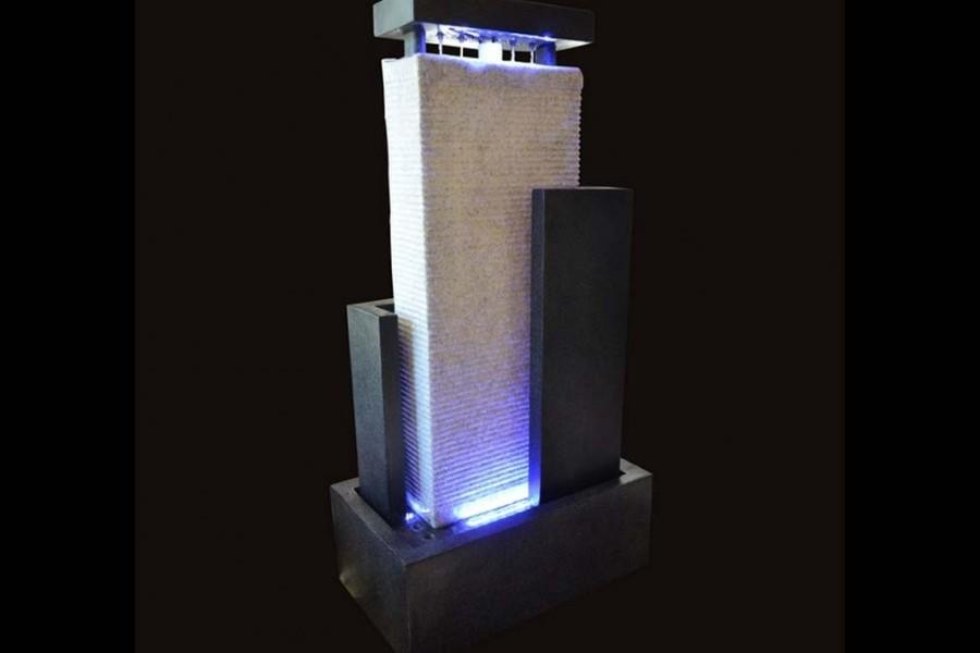 fontaine mur d 39 eau led mura xl int ext fontaine. Black Bedroom Furniture Sets. Home Design Ideas