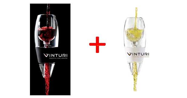 Pack duo a rateur de vin rouge et a rateur de vin blanc for Aerateur de vin darty