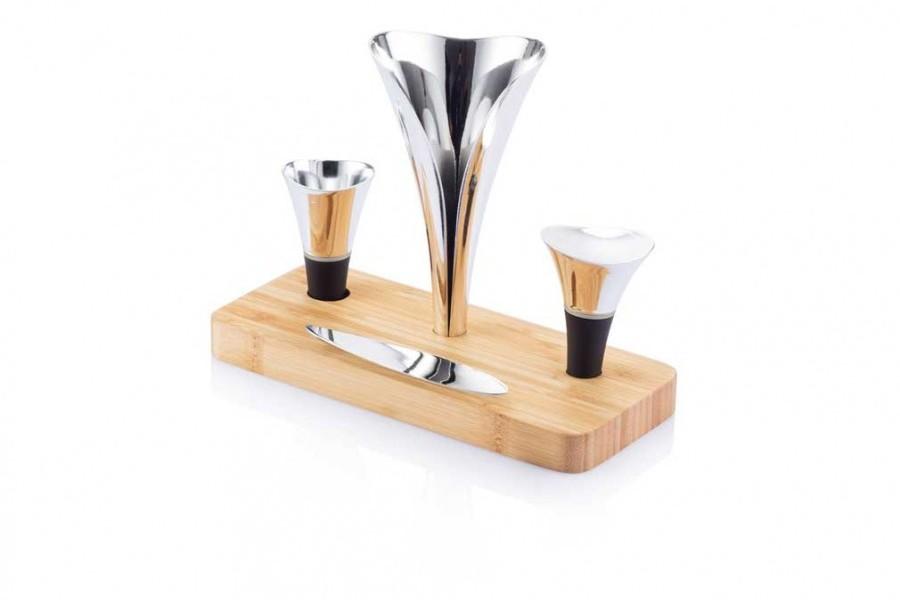 Set accessoires vin du sommelier air luxe coffret vin - Accessoire bureau luxe ...