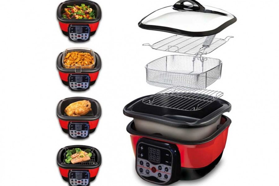 Speed Chef Multicuiseur 8 En 1 Speed Chef Cooker Digital Rouge