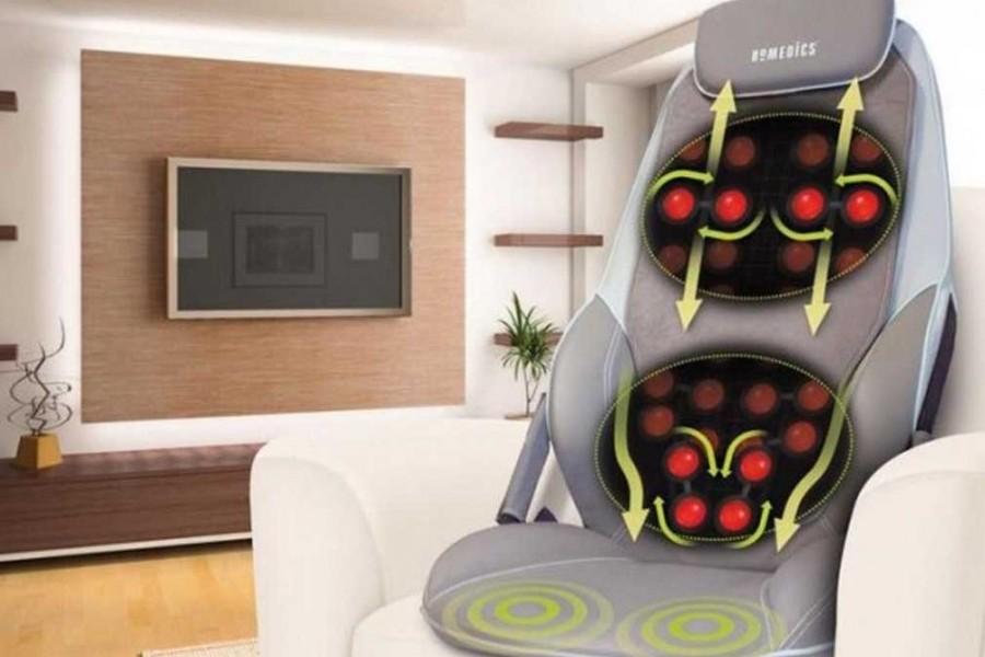 si ge de massage homedics shiatsu chauffant dos et paules bmsc5000h innovmania. Black Bedroom Furniture Sets. Home Design Ideas