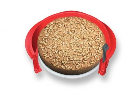 moule à gâteau duo silicone et plat céramique lékué : ustensiles