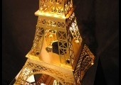 Tour Eiffel 80 cm Gold flashée or